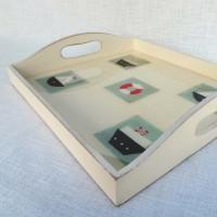 Square Tray Marine White WTSQMWh Detail