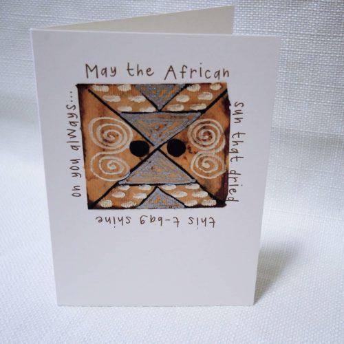 "Card A6 ""African Sun"" 1"